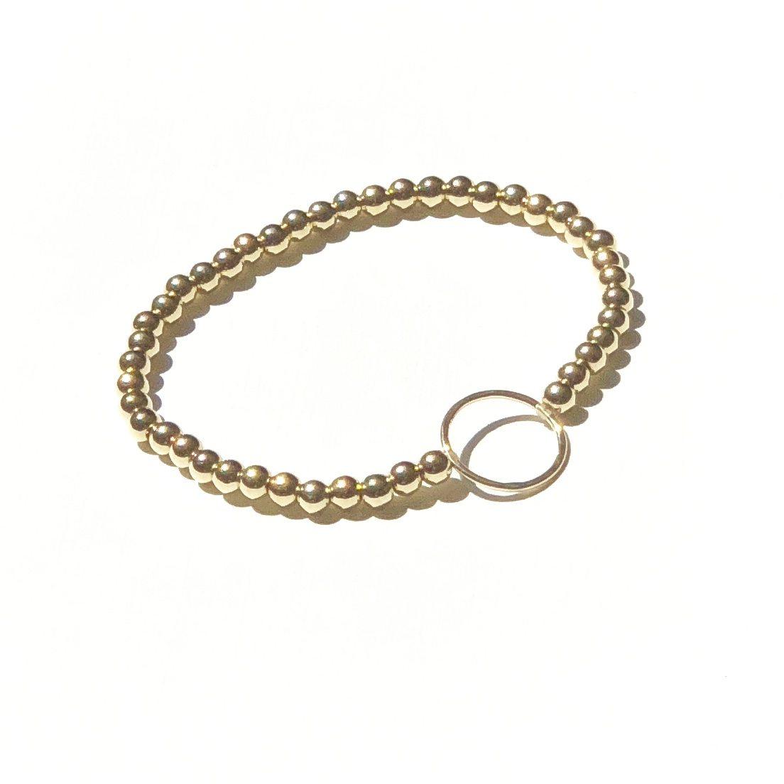 goldfilled circle bracelet