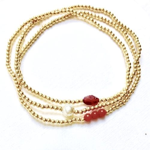 Indy & Noa goldfilled set For the Future armbanden