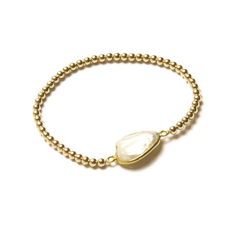 goldfilled armband met parel
