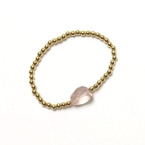 Goldfilled Rosequartz bracelet