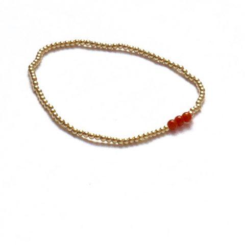 goldfilled Bloedkoraal armband