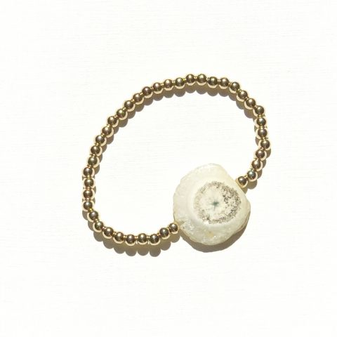 goldfilled armband met solar Agaat