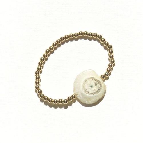 Goldfilled solar Agate bracelet