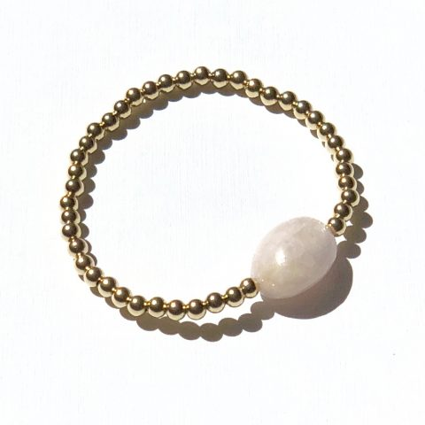 Goldfilled roze Morganiet Armband