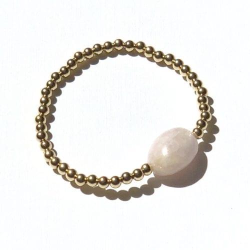 Goldfilled pink Morganite bracelet