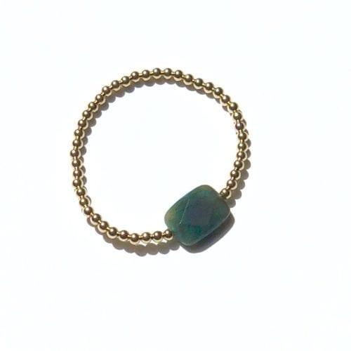 Goldfilled groene Agaat armband