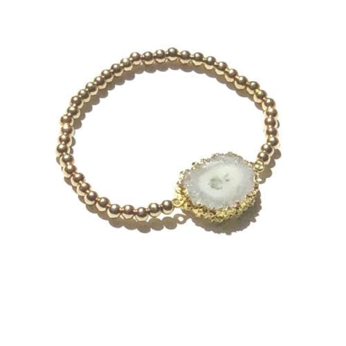 Goldfilled solar Agaat armband