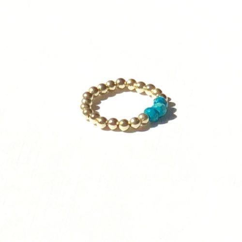 Indy & Noa goldfilled Turquoise ring