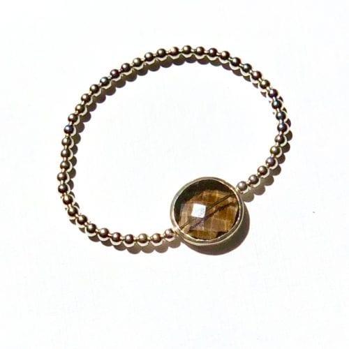 Indy & Noa silver Smokey quartz bracelet