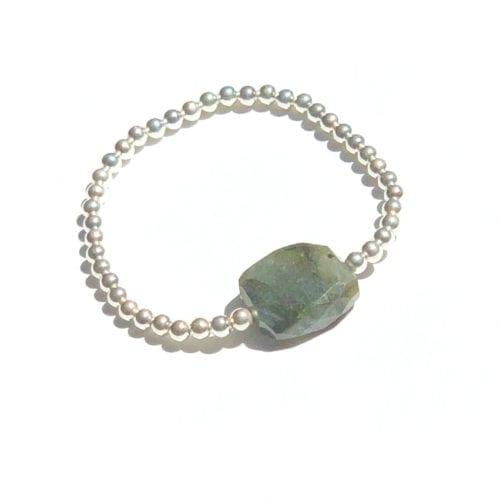 Indy & Noa silver Labradorite bracelet