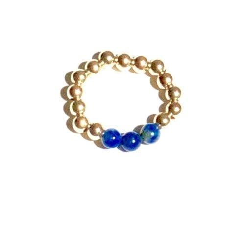 Indy & Noa goldfilled Lapis Lazuli ring