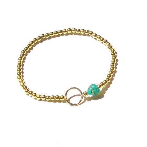Indy & Noa Turquoise & Circle of Life armband