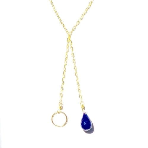 Indy & Noa Lapis Lazuli & Circle of Life necklace