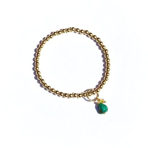 Indy & Noa goldfilled Turquoise & Circle of Life bracelet