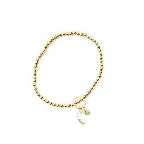Indy & Noa goldfilled Amethyst & Circle of life armband