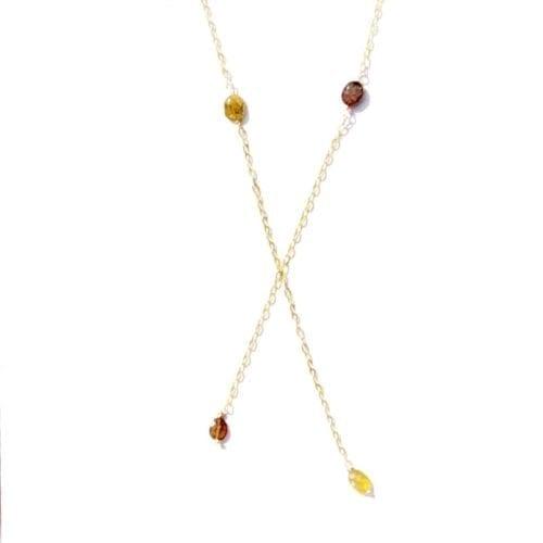 Indy & Noa gem necklace