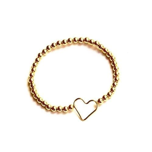 Indy & Noa Goldfilled heart bracelet