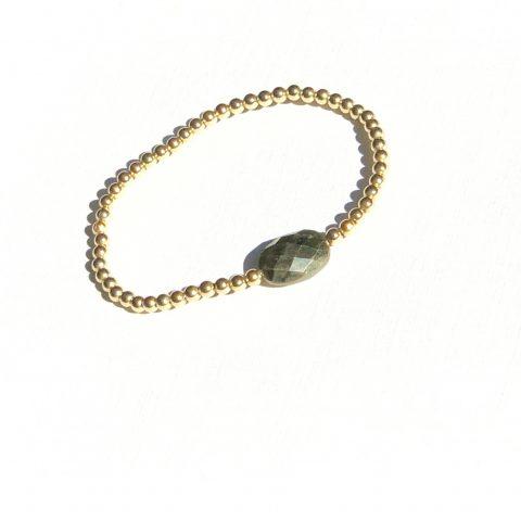 ed armband met goudpyriet