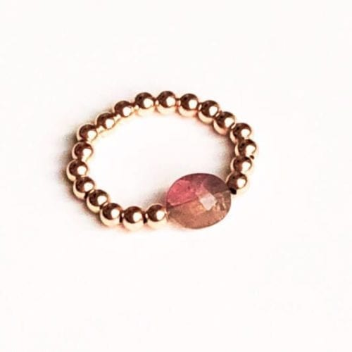 Indy & Noa Toermalijn pink Goldfilled ring