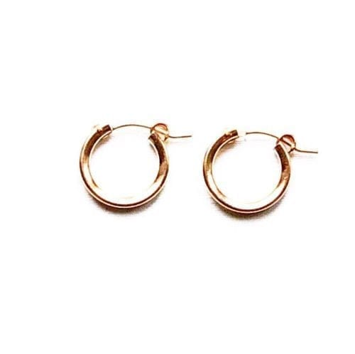 Indy & Noa pink Goldfilled hoops