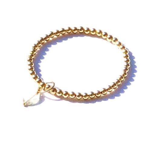 Indy & Noa Goldfilled green Amethyst bracelet