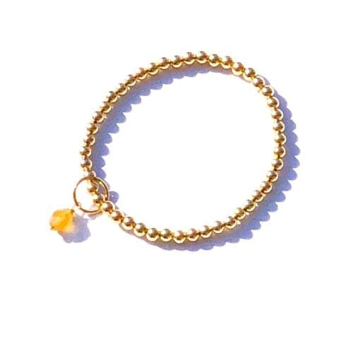 Indy & Noa Goldfilled Citrien armband