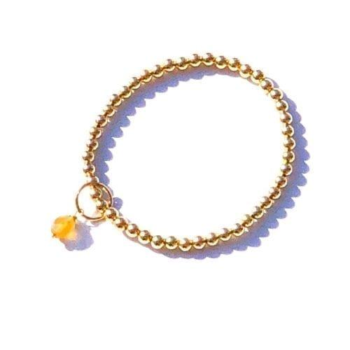 Indy & Noa goldfilled Citrine bracelet