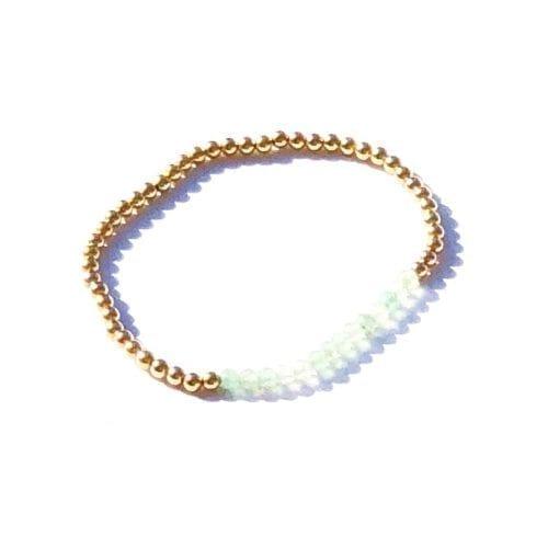 Indy & Noa goldfilled green Quartz braceletç