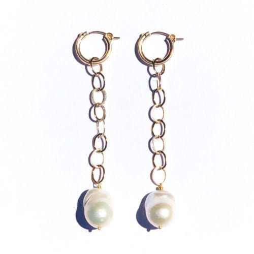 Goldfilled wild Pearl hoops