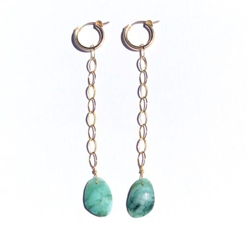 Indy & Noa Goldfilled Emerald hoops