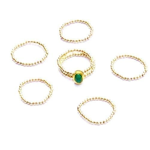 Indy & Noa 14K goldfilled Emerald ring