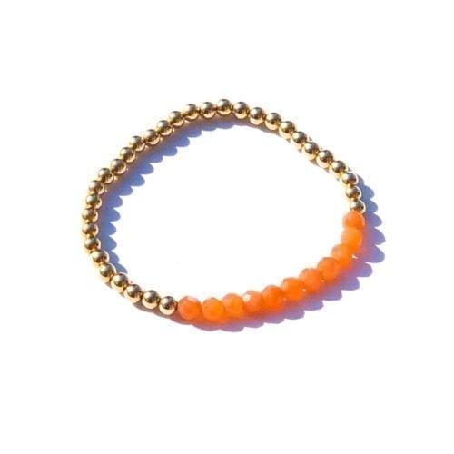Indy & Noa goldfilled orange Moonstone