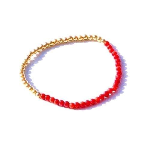 Indy & Noa goldfilled Coral bracelet
