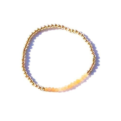 Indy & Noa goldfilled peach Moonstone bracelet