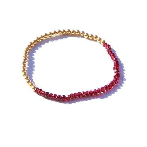 Indy & Noa goldfilled Garnet bracelet
