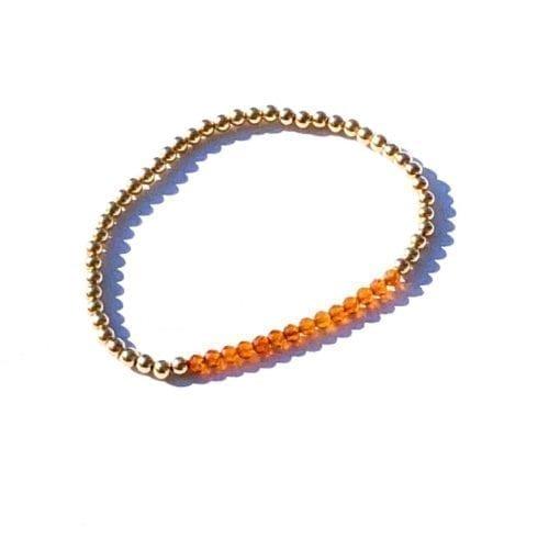 Indy & Noa goldfilled Hessonite bracelet