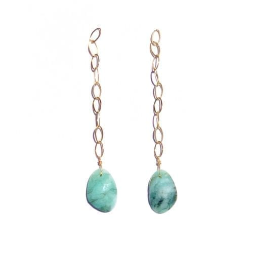 Indy & Noa Goldfilled Smaragd pendants