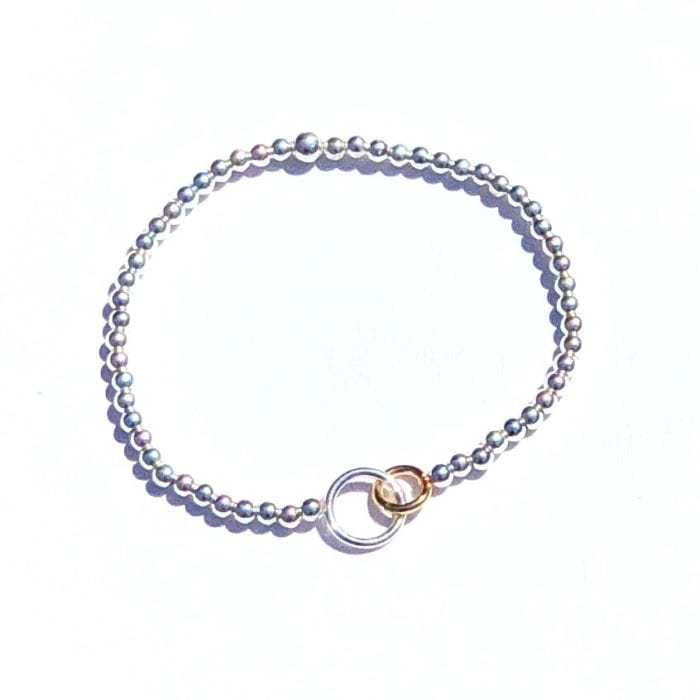 Connected as we are silver bracelet