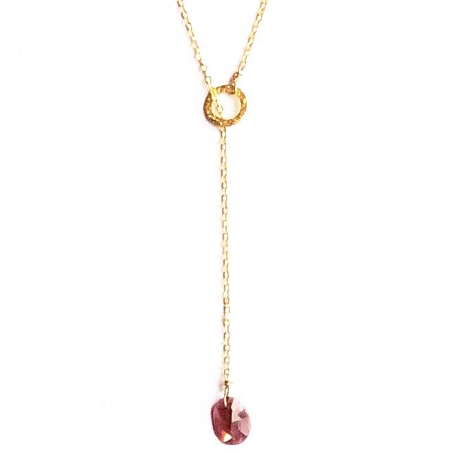 Indy & Noa goldfilled Tourmaline signature necklace