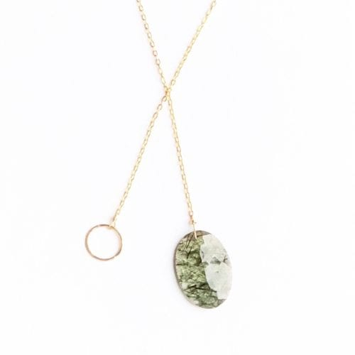 Indy & Noa goldfilled Rutile Quartz necklace