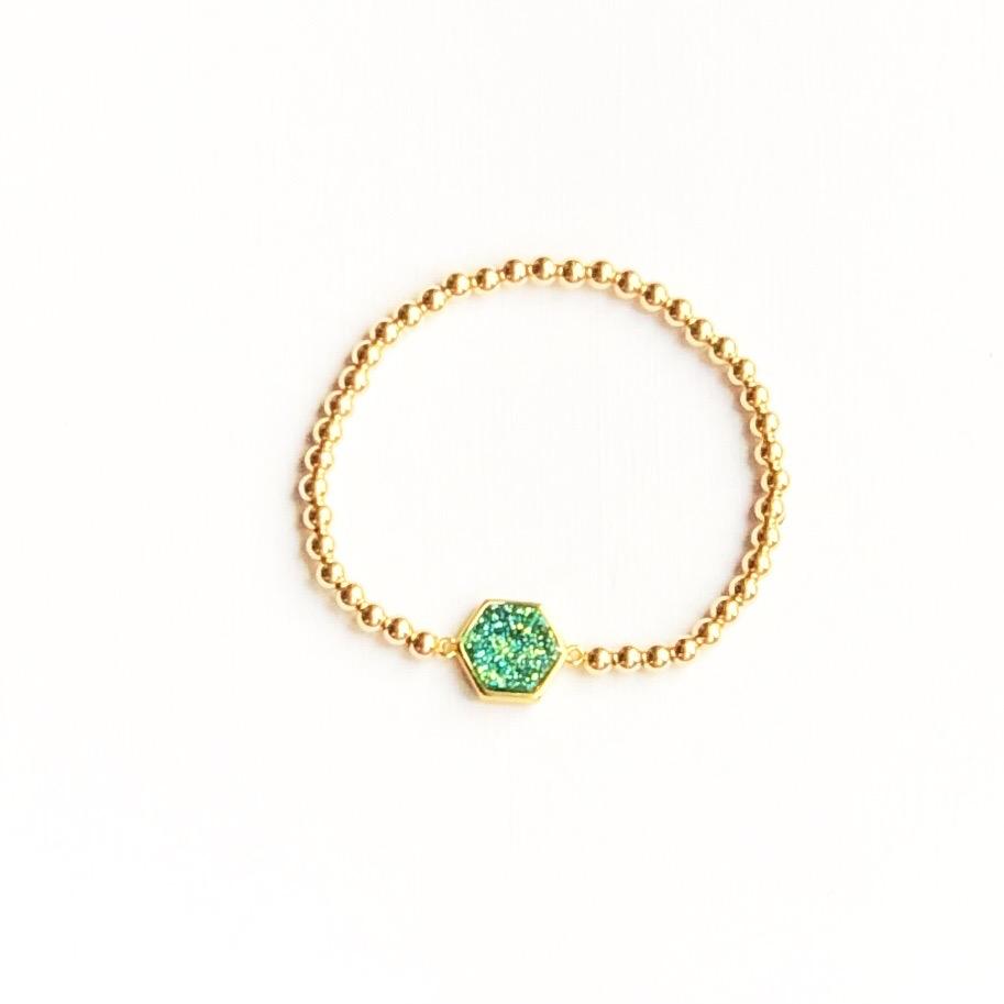 Indy & Noa goldfilled Druzy bracelet