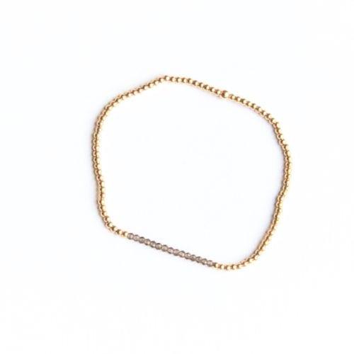 Indy & Noa goldfilled mini Smokey Quartz bracelet