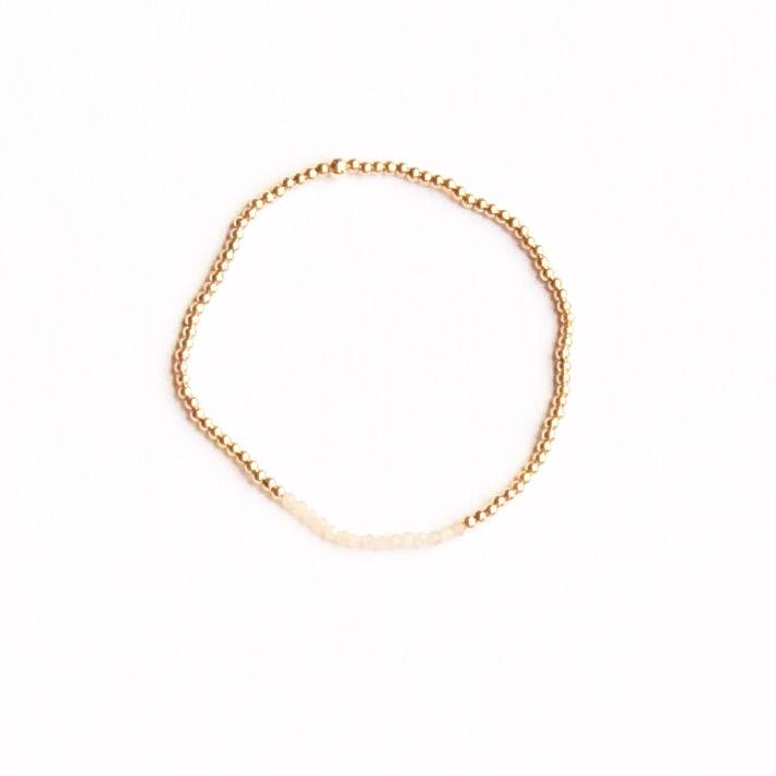 Indy & Noa goldfilled mini peach Zirkonia bracelet