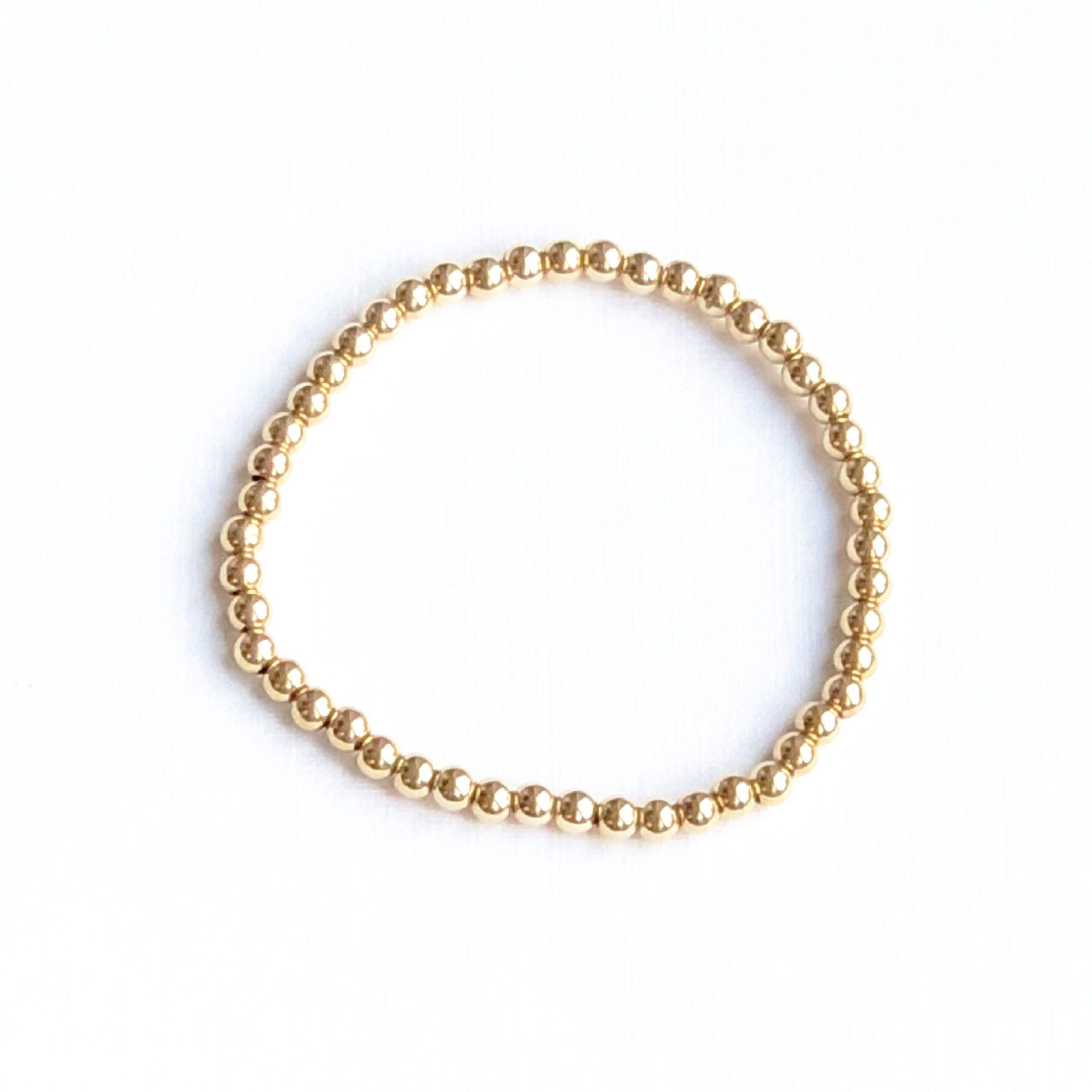 Indy & Noa goldfilled plain bracelet