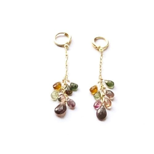 Indy & Noa goldfilled Tourmaline earrings