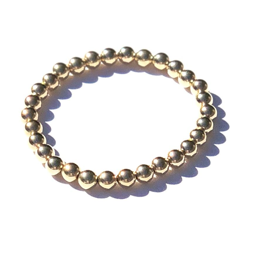 Indy&Noa 6mm goldfilled plain bracelet