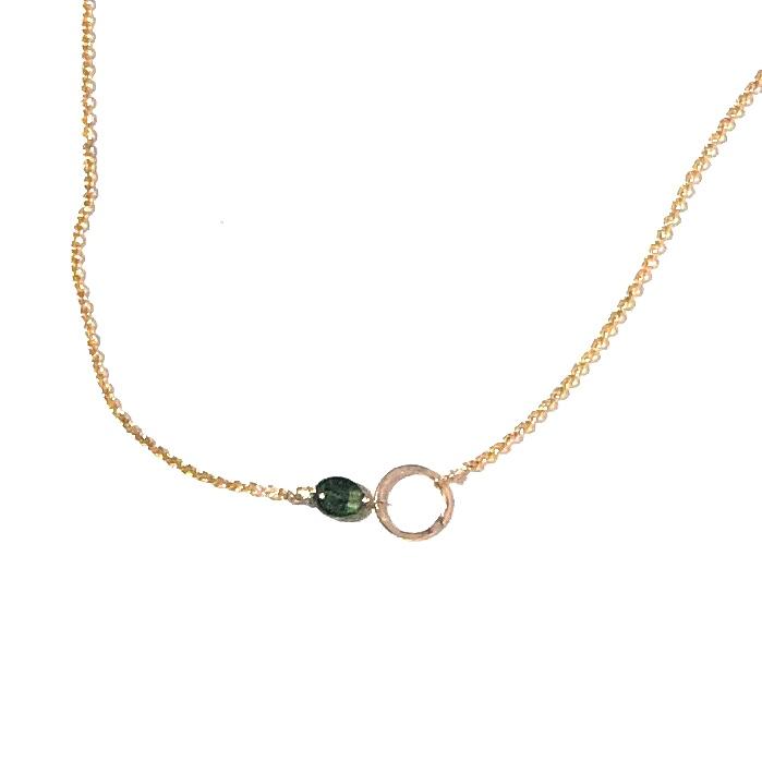 I&N goldfilled Tourmaline signature circle necklace