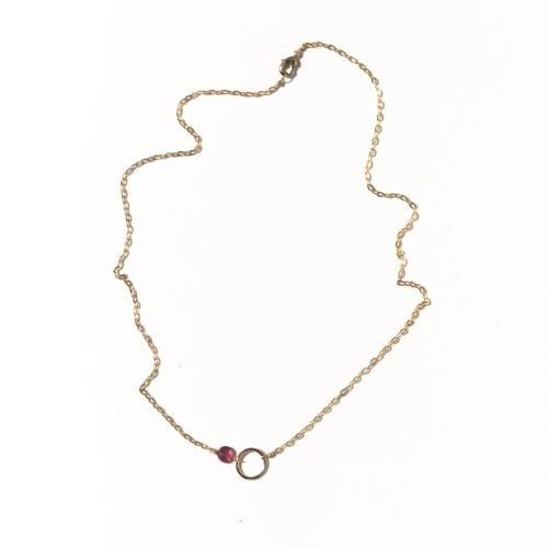 I&N goldfilled Tourmaline signature circle necklace