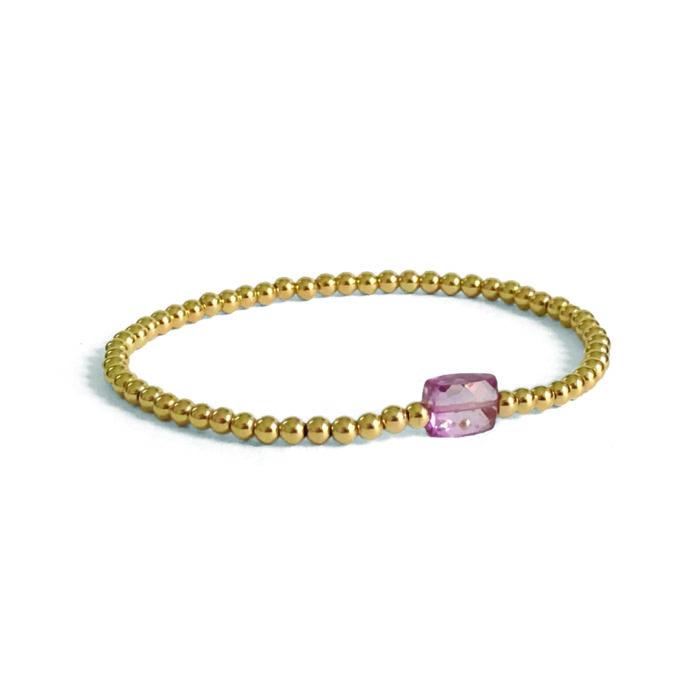 I&N goldfilled pink Tourmaline bracelet