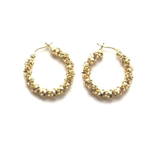 Indy & Noa goldfilled nugget hoops